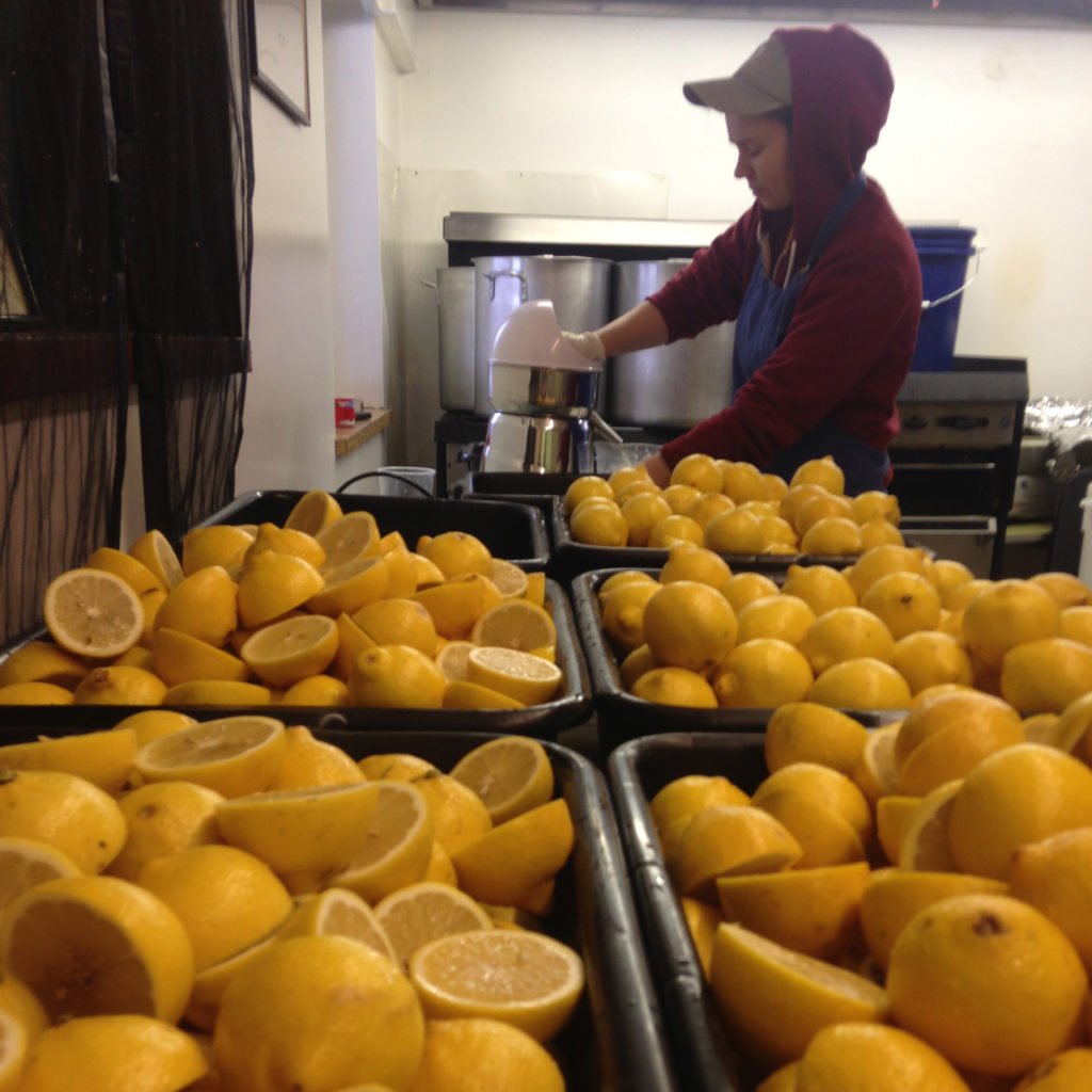 It all starts with fresh squeezed lemon juice.